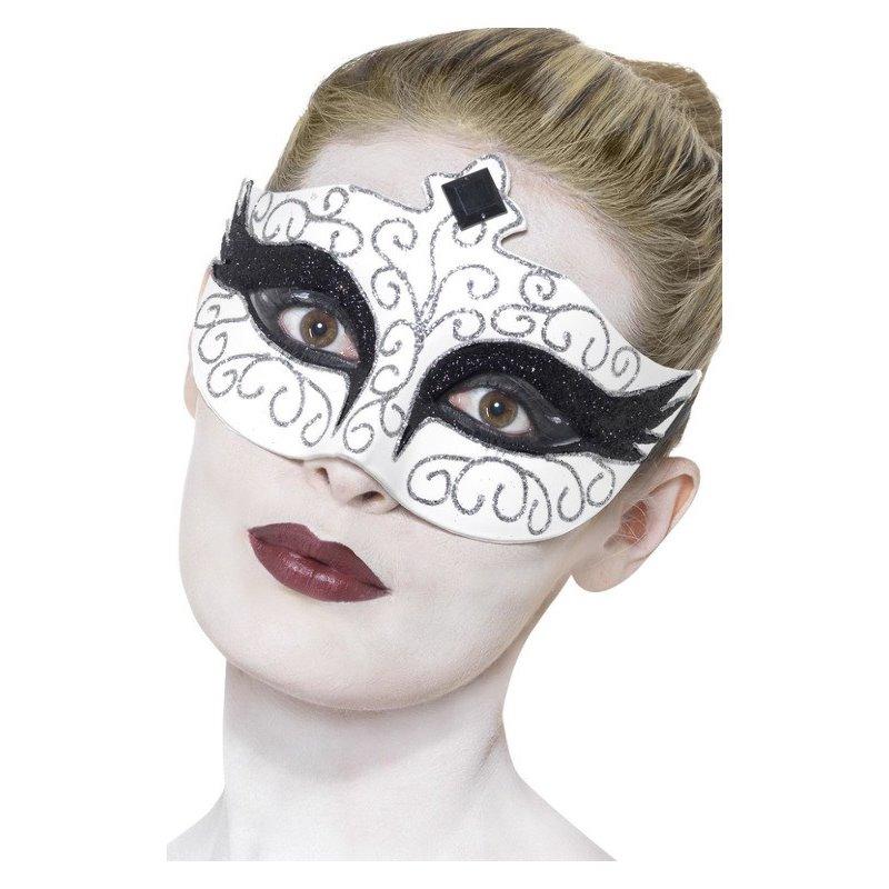 Αποκριάτικο Αξεσουάρ Μάσκα Ματιών Μαύρος Κύκνος