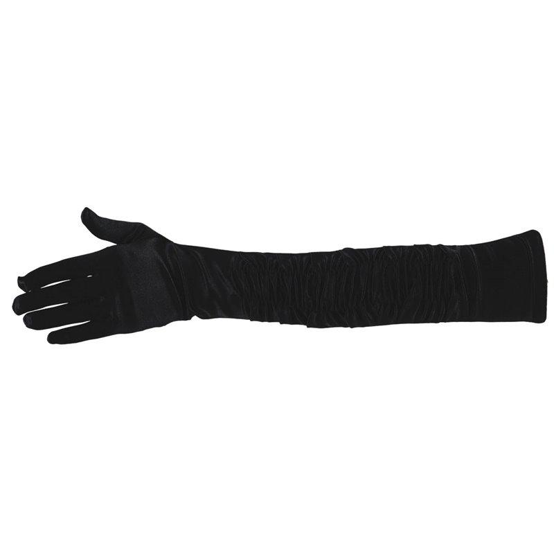 Αποκριάτικο Αξεσουάρ Γάντια Μακριά Μαύρα 45 εκ.