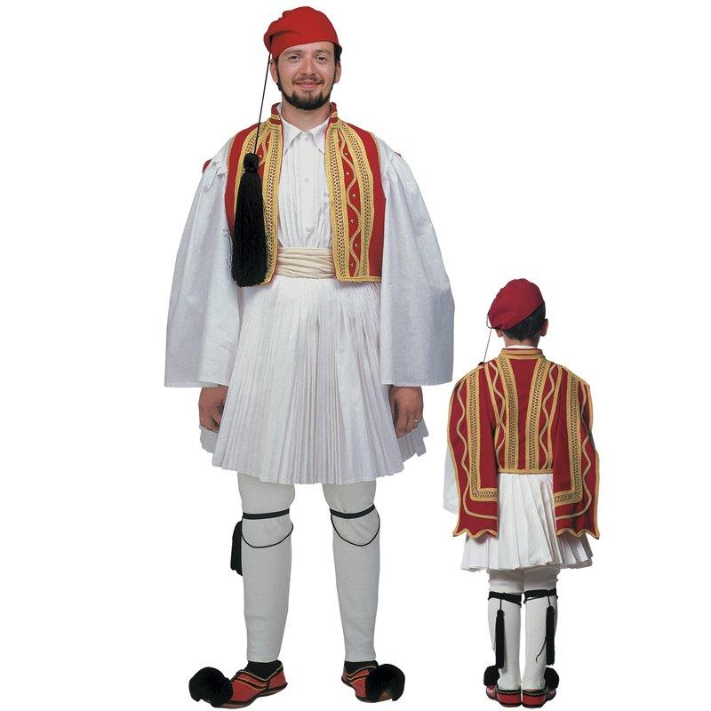Παραδοσιακή Στολή Εύζωνας Κόκκινος