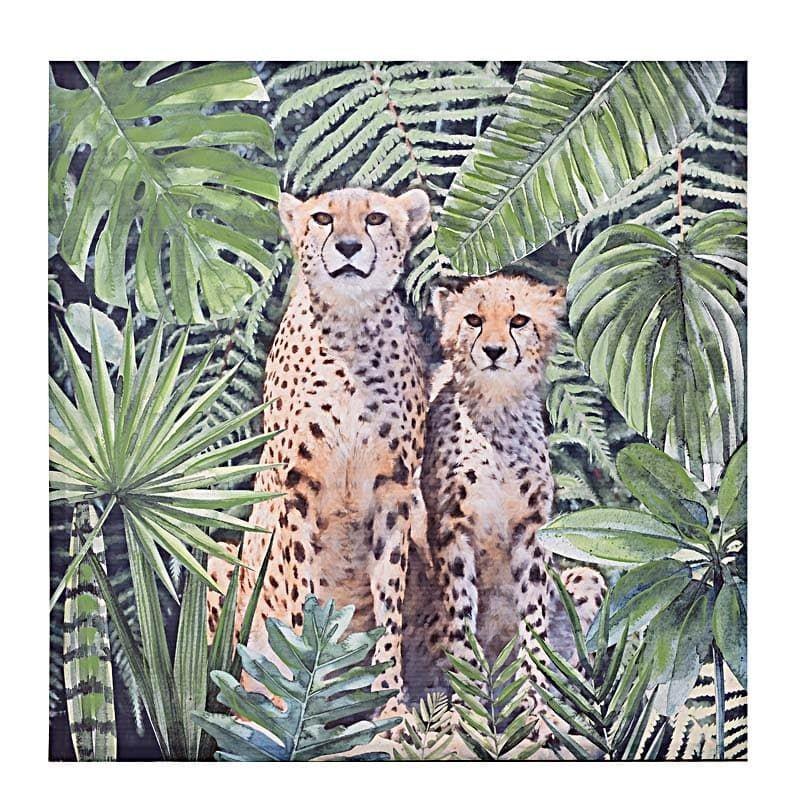 Διακοσμητικός Πίνακας Λεοπαρδάλεις 100x3x100 εκ.