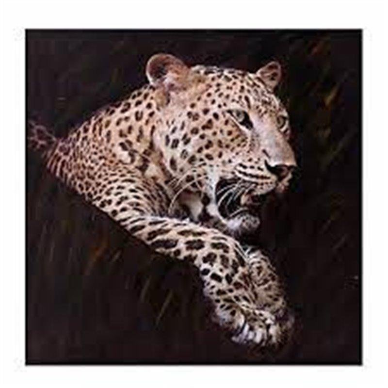 Διακοσμητικός Πίνακας Λεοπάρδαλη 100x3x100 εκ.
