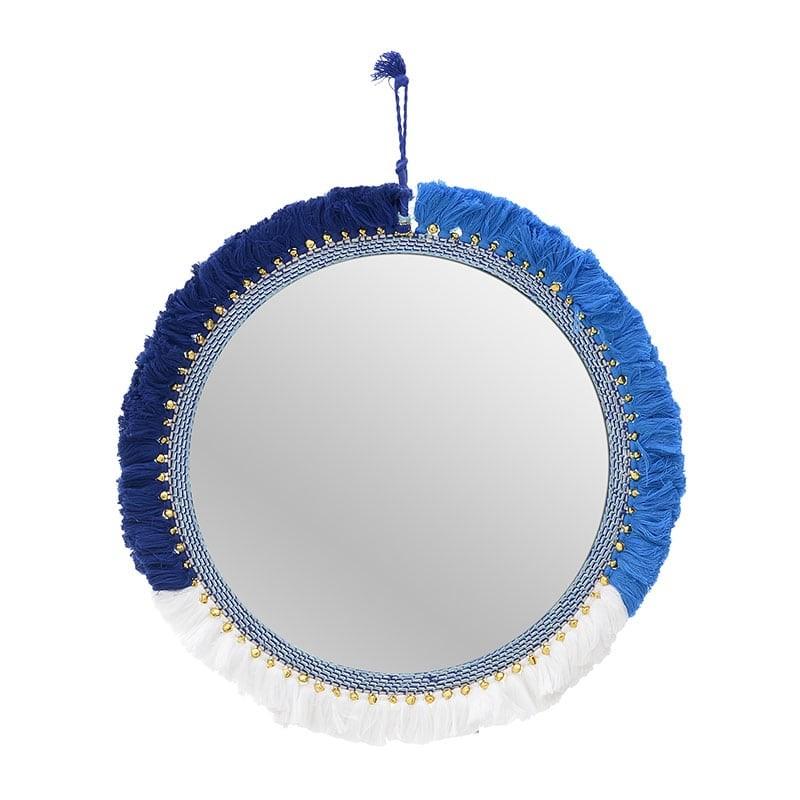 Διακοσμητικός Καθρέφτης Μακραμέ φ45 εκ.
