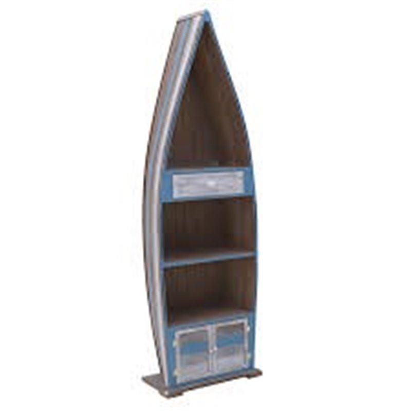 Διακοσμητική Ραφιέρα Βάρκα Ξύλινη 48x24x155 εκ.