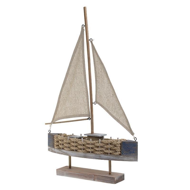 Διακοσμητικό Επιτραπέζιο Καράβι Ξύλινο 62 εκ.