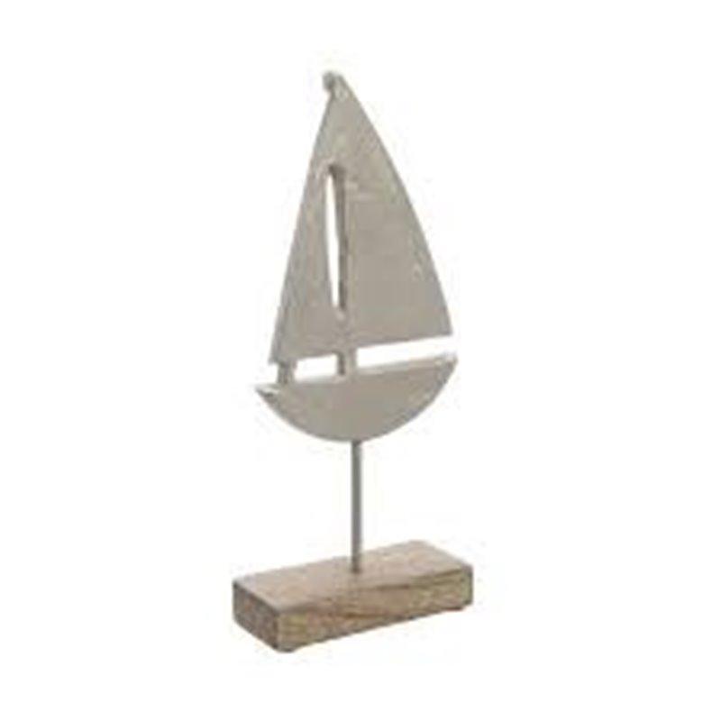 Διακοσμητικό Επιτραπέζιο Καράβι Μέταλλο Ξύλο 13x5x31 εκ.