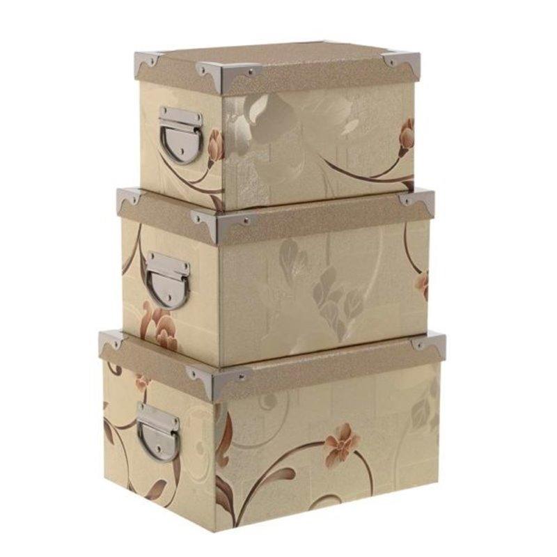 Διακοσμητικό Κουτί Αποθήκευσης Χάρτινο Σετ 3 τμχ.