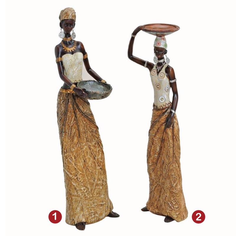 Διακοσμητικό Αγαλματίδιο Αφρικάνα 40 εκ. 2 σχ.