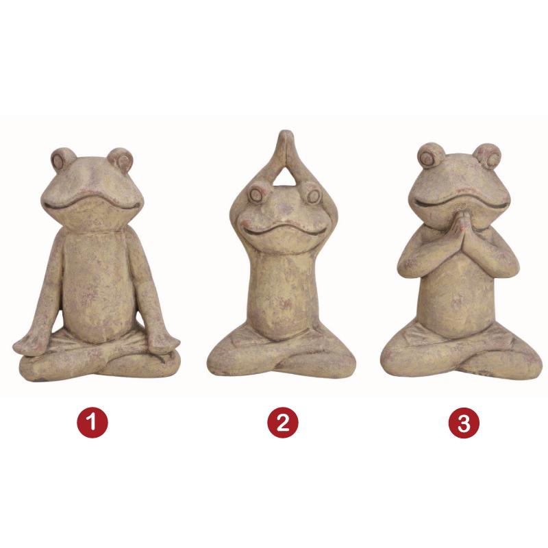 Διακοσμητικό Αγαλματίδιο Βάτραχος Γιόγκα 13 εκ. 3 σχ.