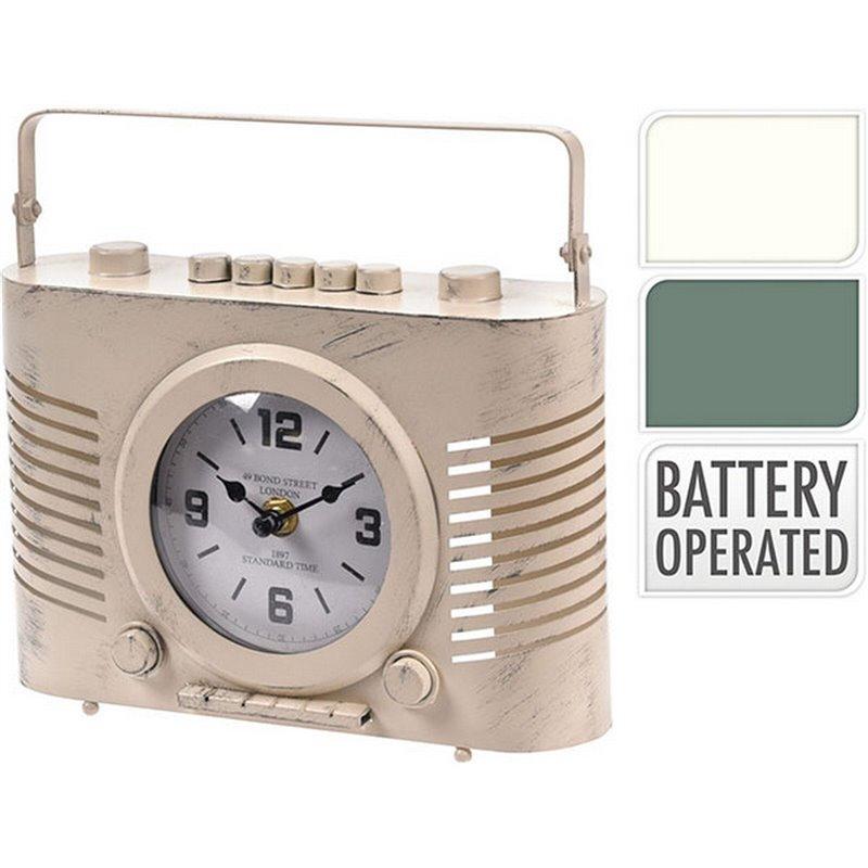 Διακοσμητικό Ρολόι Ράδιο 2 χρ. 20x7x20 εκ.