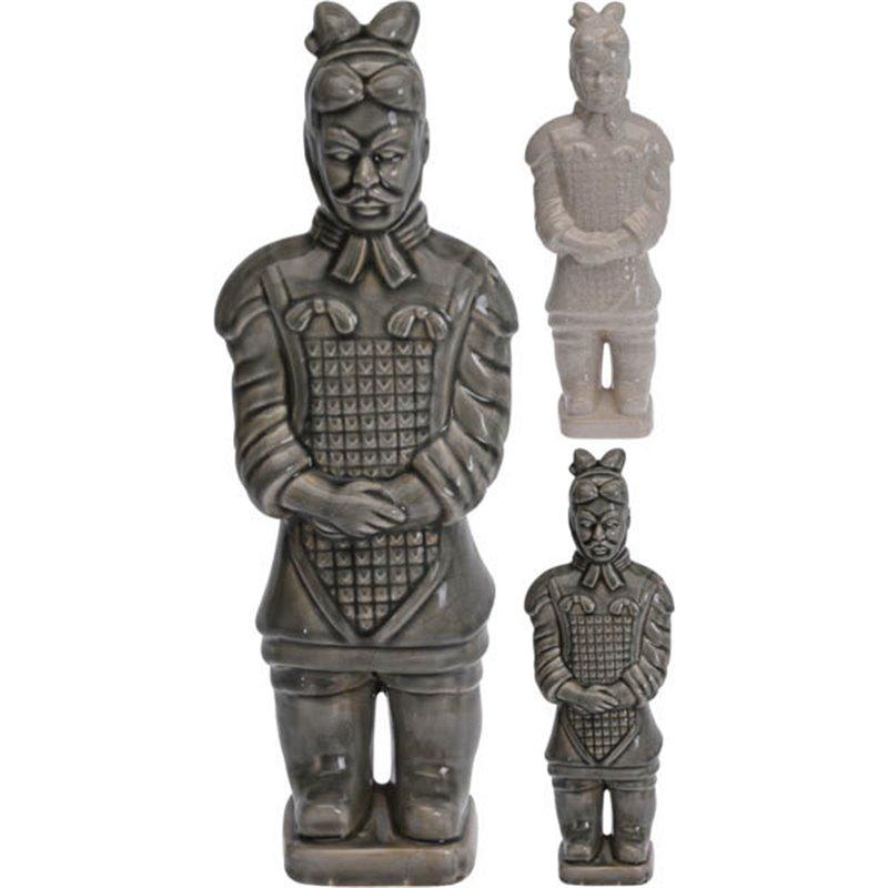 Διακοσμητικό Αγαλματίδιο Πολεμιστής Κεραμικός 2 χρ. 42 εκ.