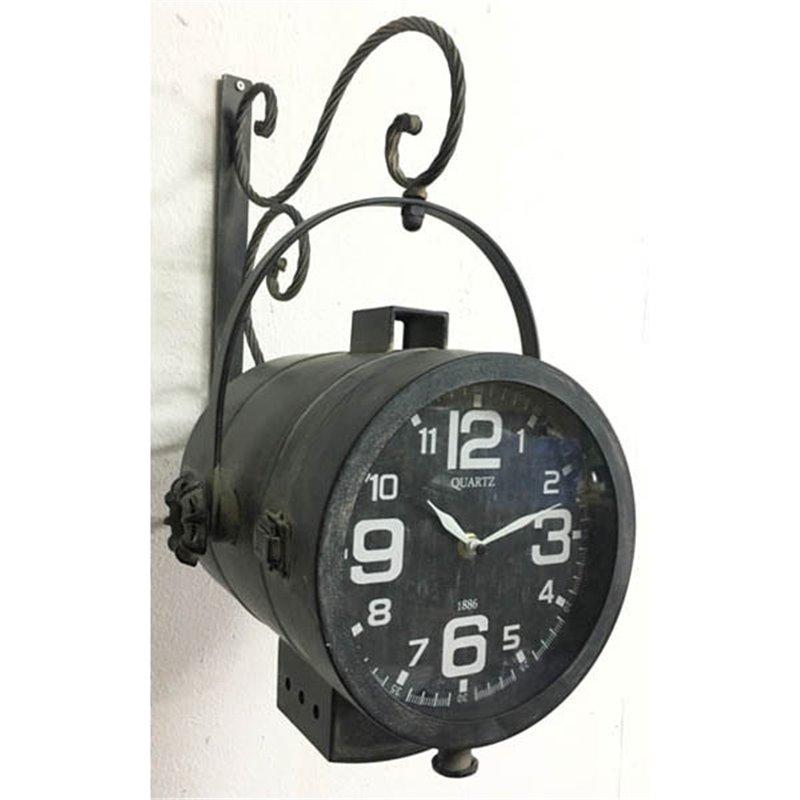 Διακοσμητικό Ρολόι Τοίχου Μεταλλικό 26x24x48 εκ.