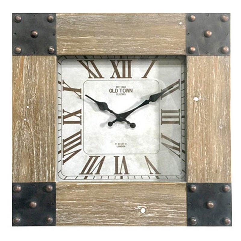 Διακοσμητικό Ρολόι Τοίχου Ξύλινο 40x40 εκ.