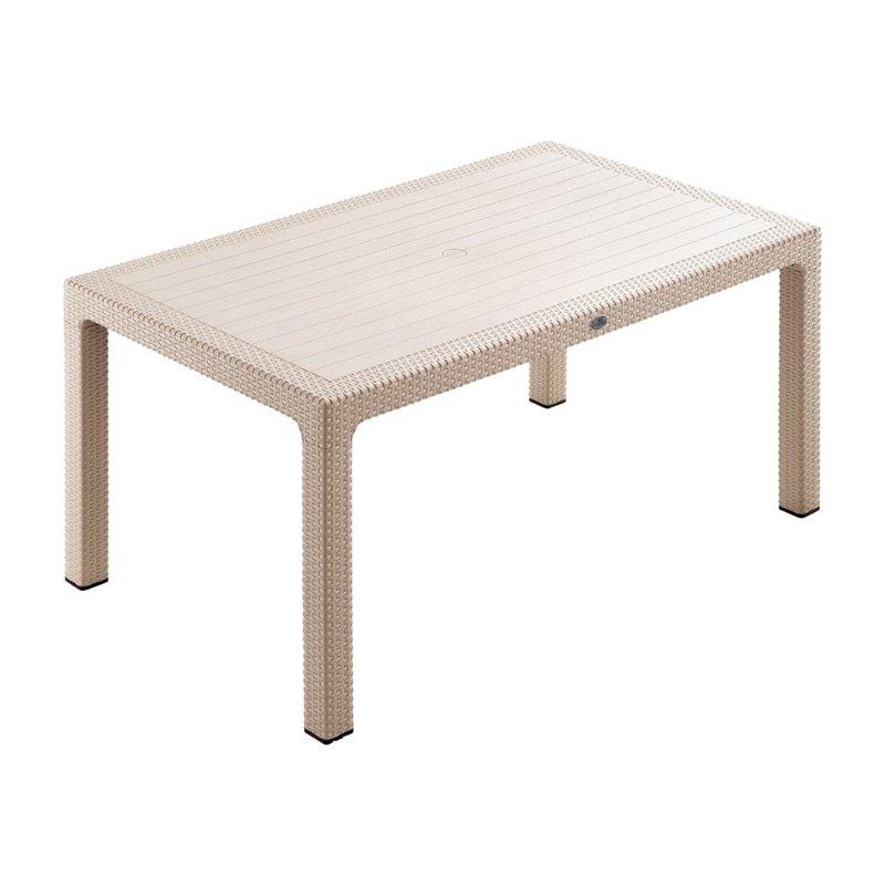 Defence Τραπέζι Κήπου Σταθερό Resin Capuccino 150x90 εκ.