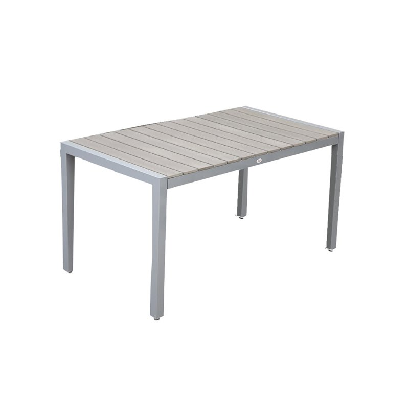 Ferrara Τραπέζι Κήπου Αλουμίνιο Polywood Λευκό 160x90x74 εκ.