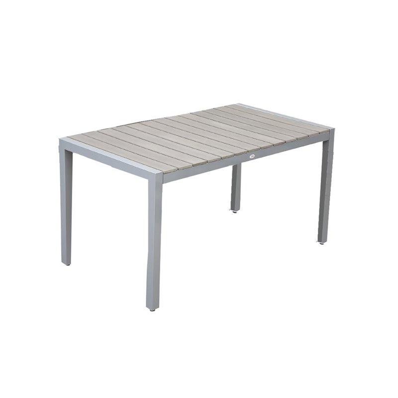 Ferrara Τραπέζι Κήπου Αλουμίνιο Polywood Λευκό 140x80x74 εκ.