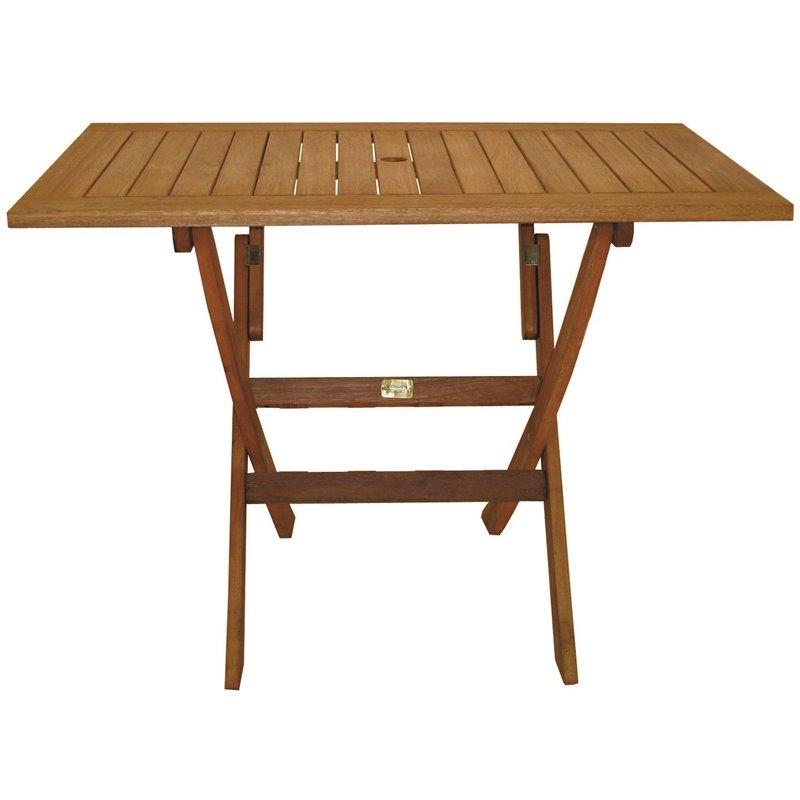 Τραπέζι Κήπου Πτυσσόμενο Ξύλο Red Shorea 100x65x73 εκ.