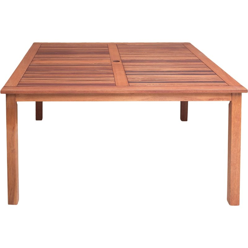 Τραπέζι Κήπου Σταθερό Ξύλο Red Shorea 140x140x73,5 εκ.