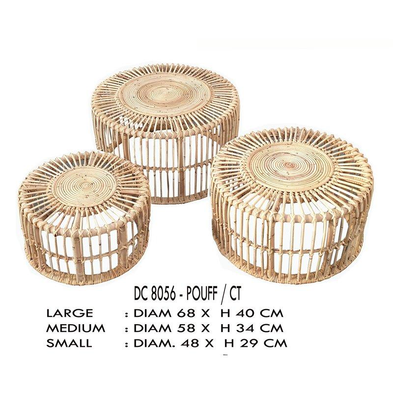 Τραπέζι Κήπου Bamboo Kubu Φ48x29 εκ.