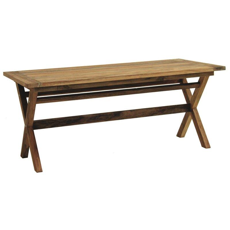 Colonial Τραπέζι Κήπου Σταθερό Ξύλο Red Shorea 180x95x75 εκ.