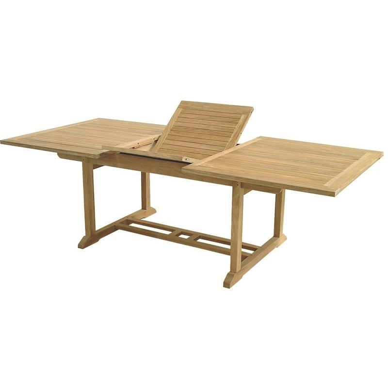 Τραπέζι Κήπου Επεκτεινόμενο Ξύλο Teak 150-210x100x75 εκ.