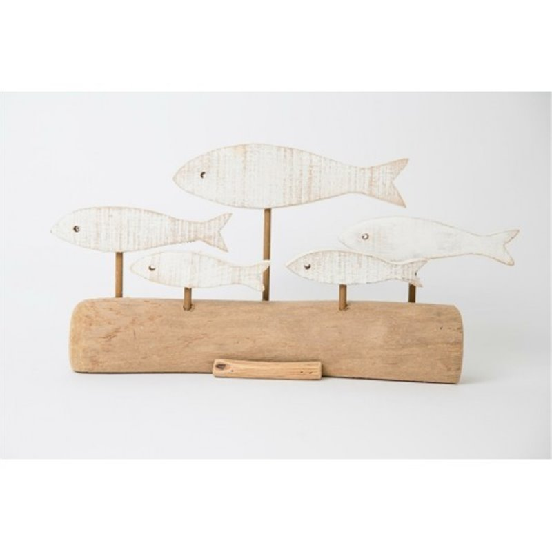 Διακοσμητικό Επιτραπέζιο με Ψάρια 39x9x19 εκ.