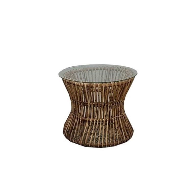 Τραπέζι Κήπου Ροτόντα Φυσικό Bamboo Φ55x45 εκ.