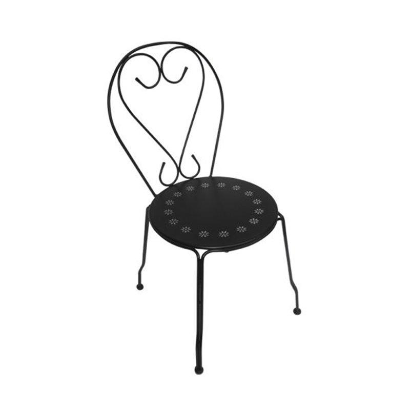 Bistro Καρέκλα Κήπου Steel Μαύρο 41x48x90 εκ.