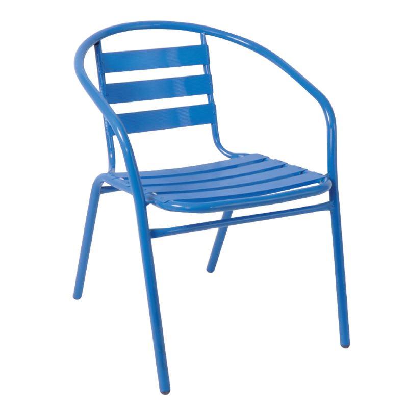 Funky Πολυθρόνα Κήπου Στοιβαζόμενη Αλουμίνιο Steel Μπλε 54x60x73 εκ.