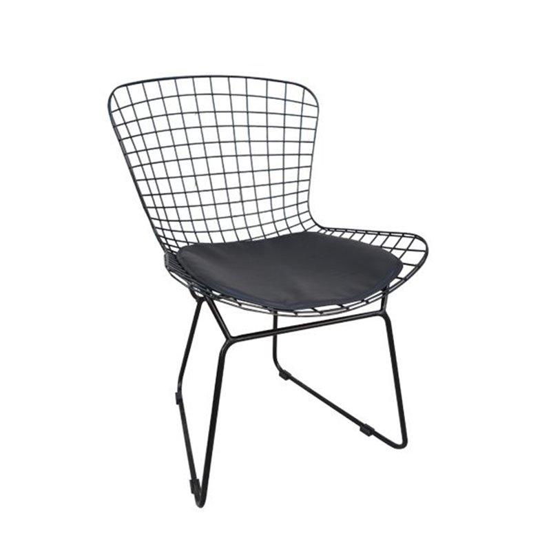 Saxon Καρέκλα Κήπου Steel Μαύρο 54x62x78 εκ.