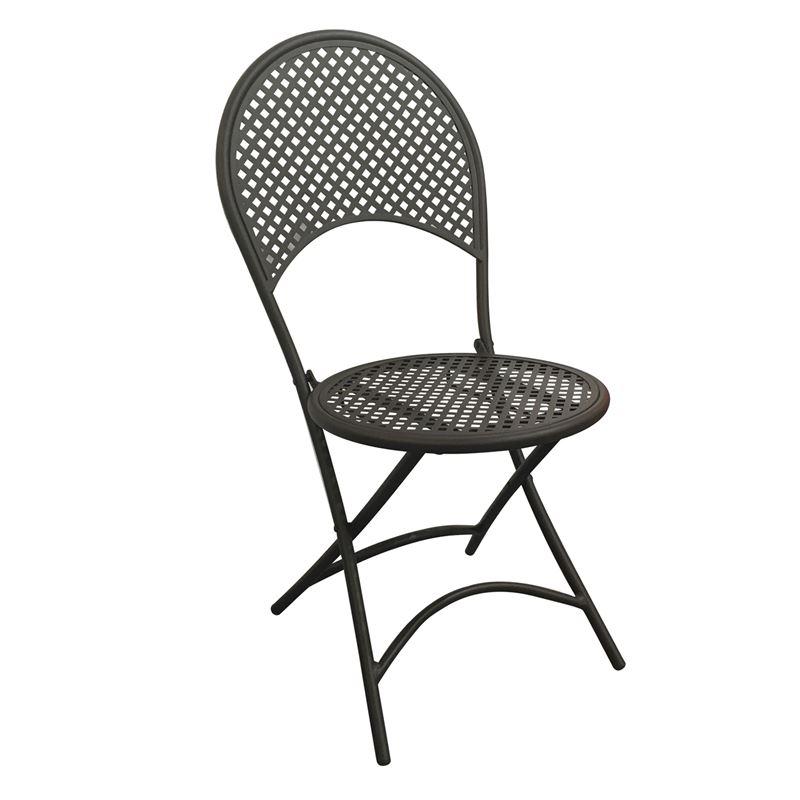 Rondo Καρέκλα Κήπου Πτυσσσόμενη Steel Μαύρο 42x54x85 εκ.