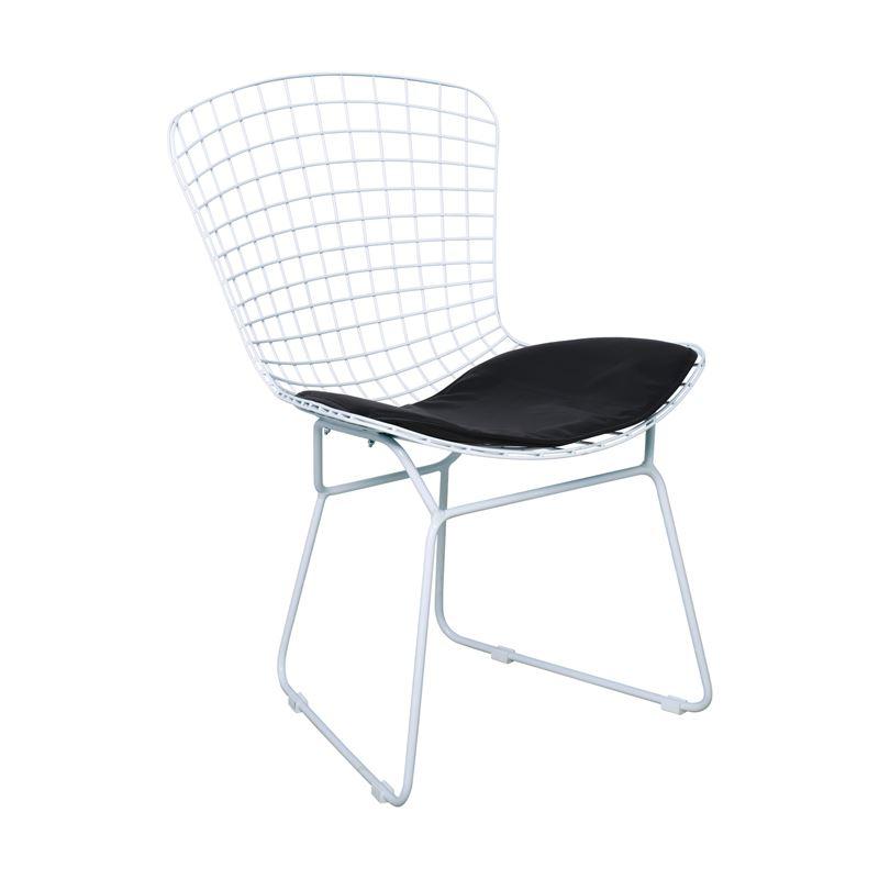 Saxon Καρέκλα Κήπου Steel Λευκό 54x62x78 εκ.