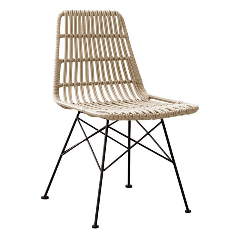 Salsa Καρέκλα Κήπου Steel Wicker Φυσικό 48x59x80 εκ.