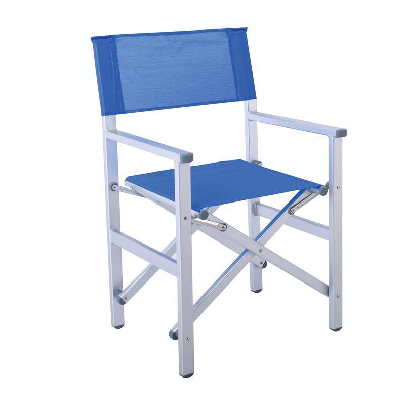 Πολυθρόνα Σκηνοθέτη Αλουμίνιο Textilene Μπλε 54x43x88 εκ.