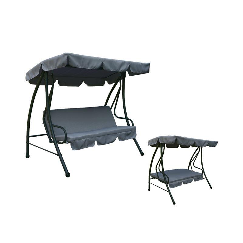 Swing  Κούνια Κήπου Κρεβάτι 3Θ Steel Ανθρακί 200x120x164 εκ.