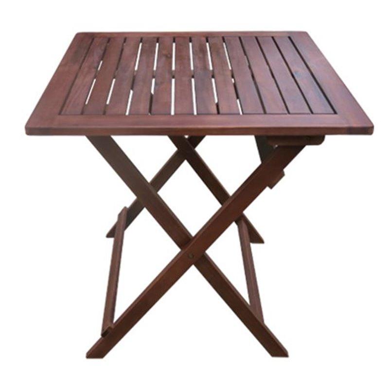 Easy Τραπέζι Κήπου Πτυσσόμενο Ξύλο Acacia Τετράγωνο 60x60x70 εκ.