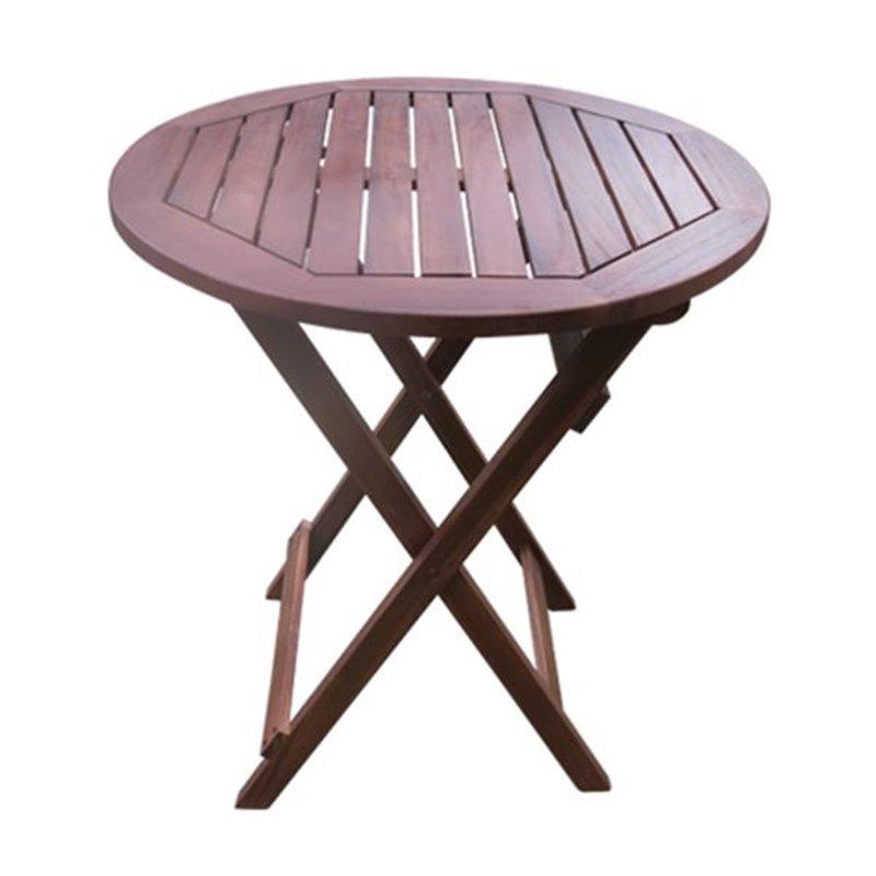 Easy Τραπέζι Κήπου Πτυσσόμενο Ξύλο Acacia Ροτόντα Φ70x70 εκ.
