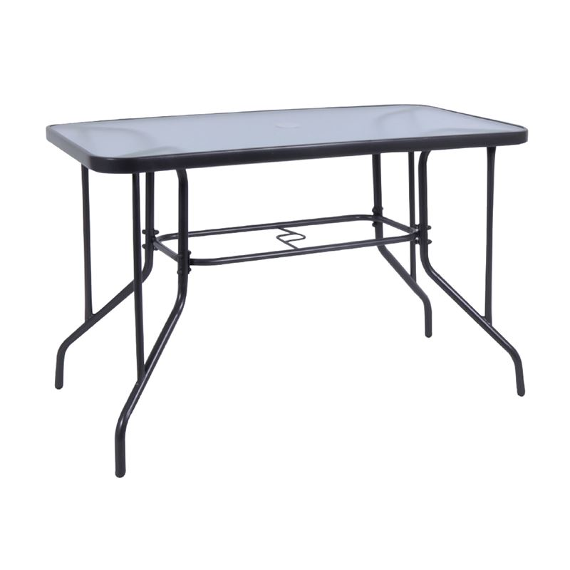 Baleno Τραπέζι Κήπου Steel Γκρι Παραλληλόγραμμο 110x60x71 εκ.
