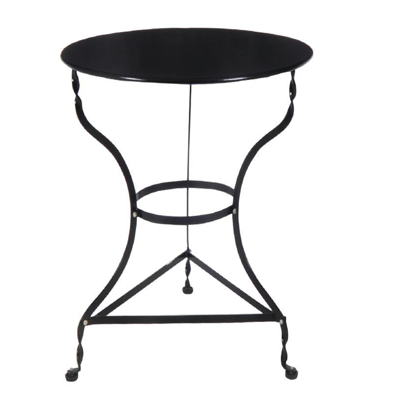 Ζαππείου Τραπέζι Κήπου Steel Μαύρο Ροτόντα Φ70x71 εκ.