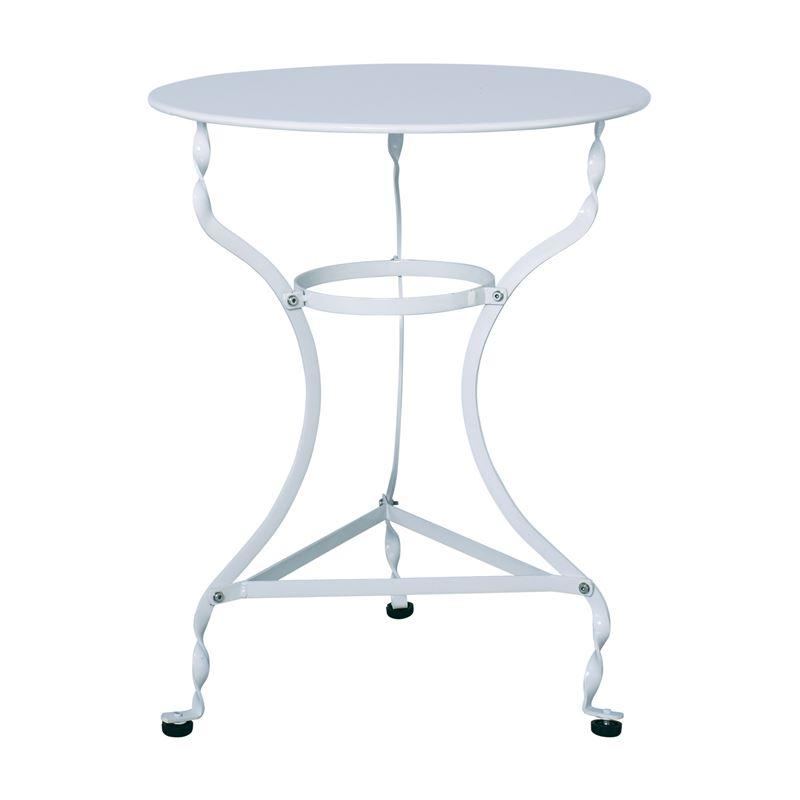Ζαππείου Τραπέζι Κήπου Steel Λευκό Ροτόντα Φ60x71 εκ.