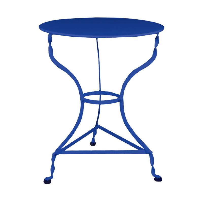 Ζαππείου Τραπέζι Κήπου Steel Μπλε Ροτόντα Φ60x71 εκ.