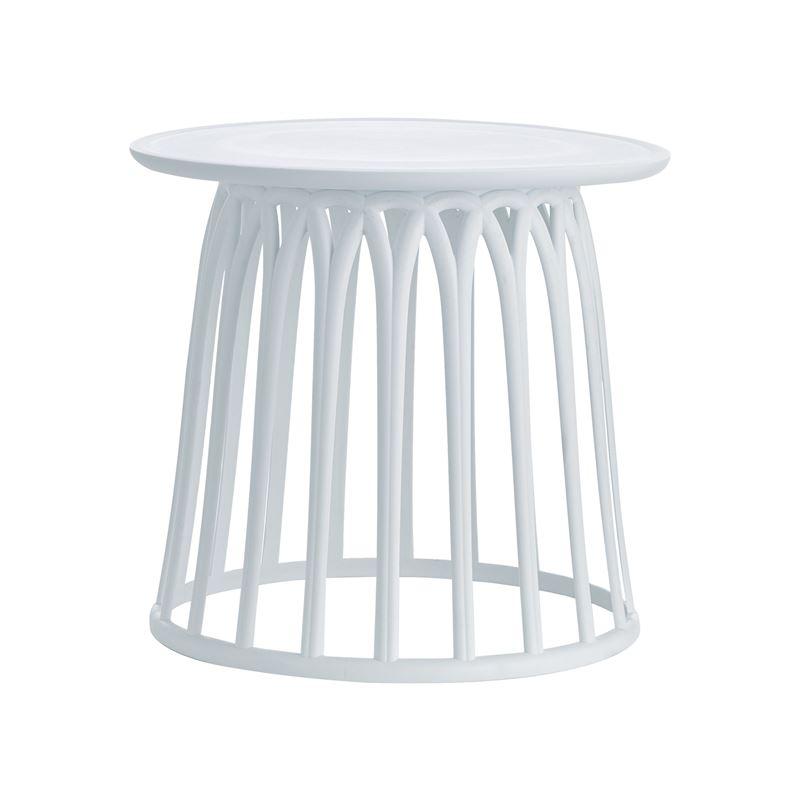 Saba Τραπέζι Κήπου Polypropylene Λευκό Ροτόντα Φ50x45 εκ.