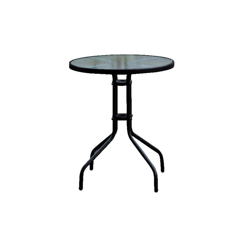 Baleno Τραπέζι Κήπου Steel Μαύρο Ροτόντα Φ60x70 εκ.