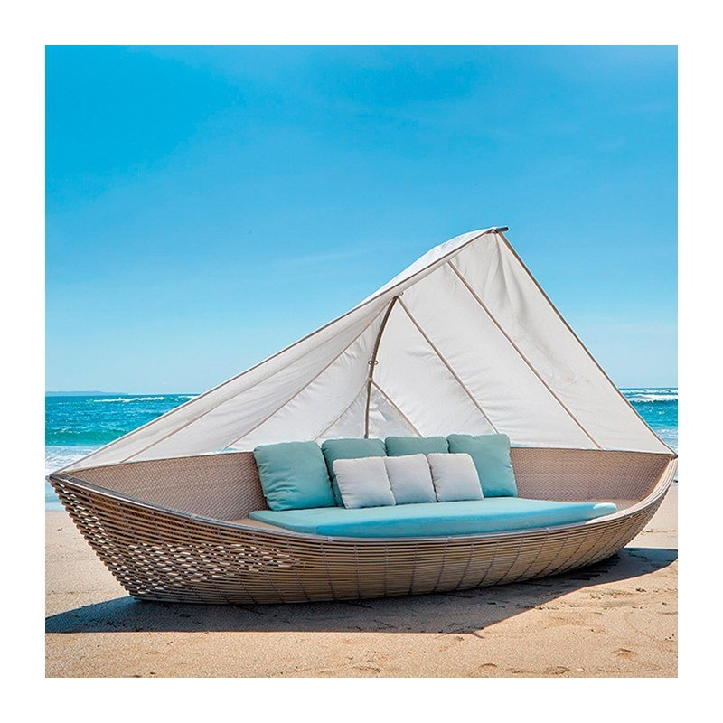 Boat Daybed Κήπου Wicker...