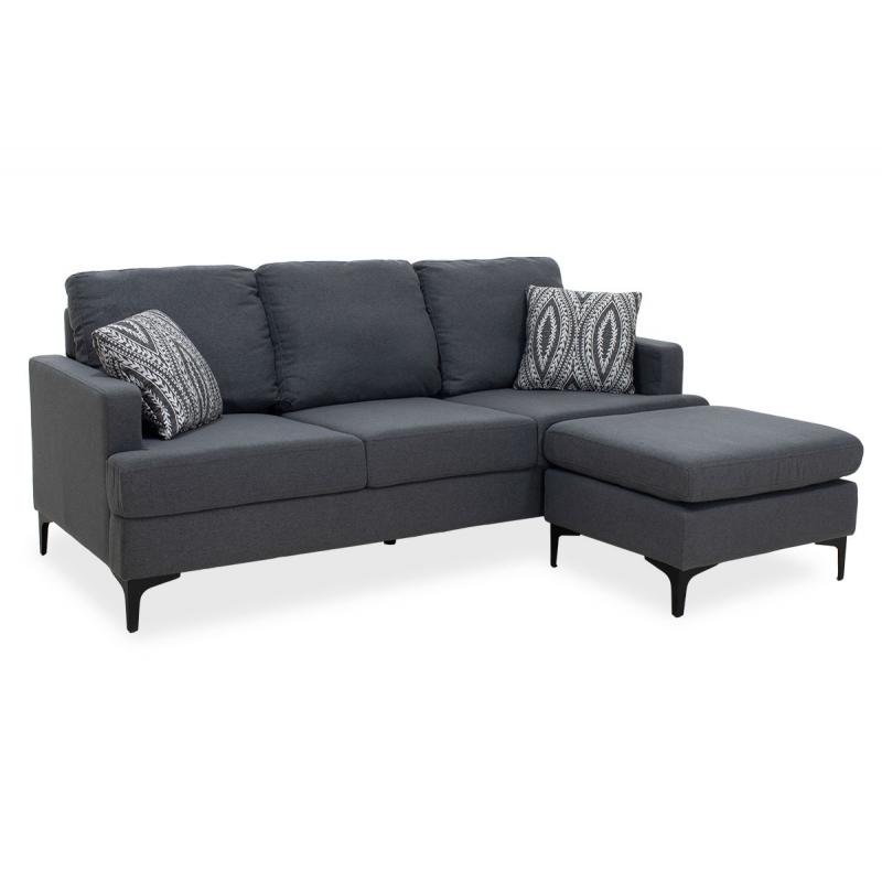 Γωνιακός καναπές με σκαμπό...