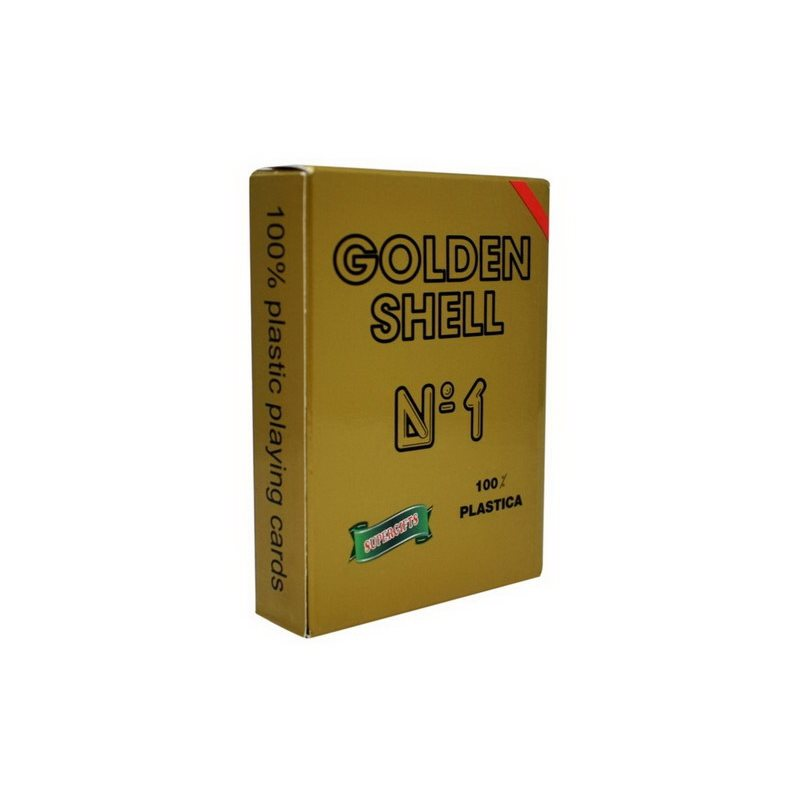 Τράπουλα Πλαστική 100% Supergifts Golden Shell Κόκκινη