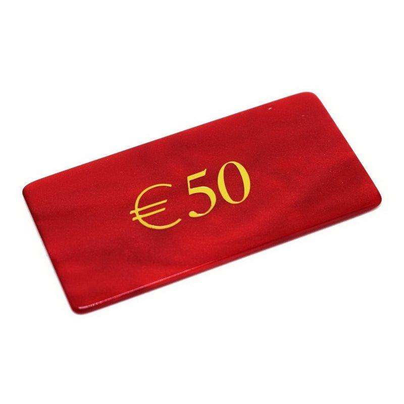 Μάρκες Poker Madreperla με αξία 50€